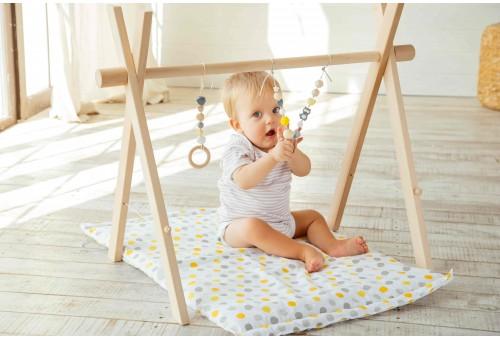 Развивающий коврик BabyGym  - Желто-серый