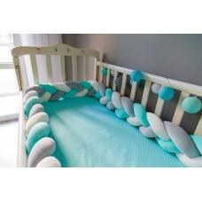 Бортик косичка в детскую кроватку - Tiffany