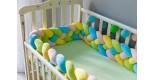Бортик косичка в детскую кроватку -Bubble gym