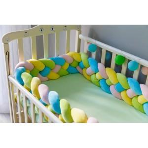 Бортик косичка в детскую кроватку - Bubble gym