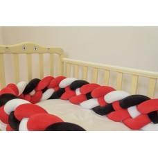 Бортик косичка в детскую кроватку - Amarathe XL