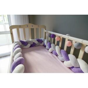 Бортик косичка в детскую кроватку - Sweet Dreams