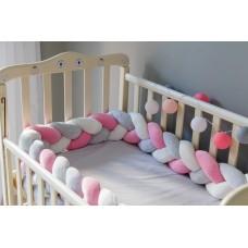 Бортик косичка в детскую кроватку - Little Princess