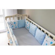 Бортики подушки в детскую кроватку - Blue lagoon