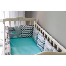 Бортики подушки в детскую кроватку - Tribal