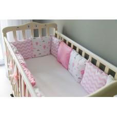 Бортики подушки в детскую кроватку - Princess