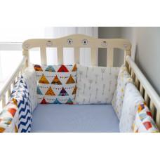 Бортики подушки в детскую кроватку - Teepee