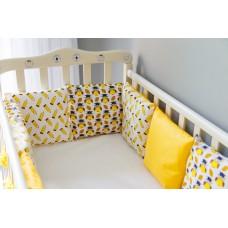 Бортики подушки в детскую кроватку - Honey