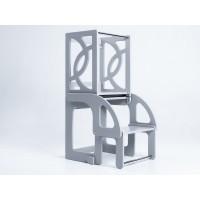 Башня помощника - трансформер - стол + стул Tarwus Gray Стул Башня Монтессори