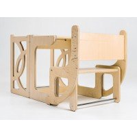 Башня помощника - трансформер: стул Башня Монтессори + стол + стул Tarwus Gold P