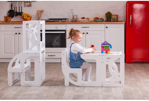 Башня помощника - Стул Башня Монтессори, детская стремянка трансформируемая в стол и стул со спинкой