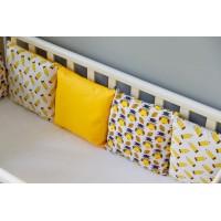 Бортики подушки в детскую кроватку - Мудрая сова